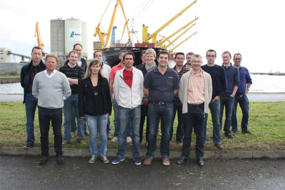 Le groupe jeunes au port de Brest