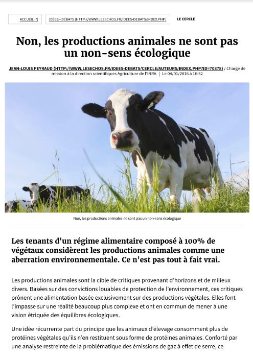 article production animale